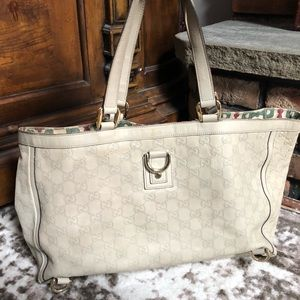 Gucci leather Guccissima Shima Abbey Tote bag